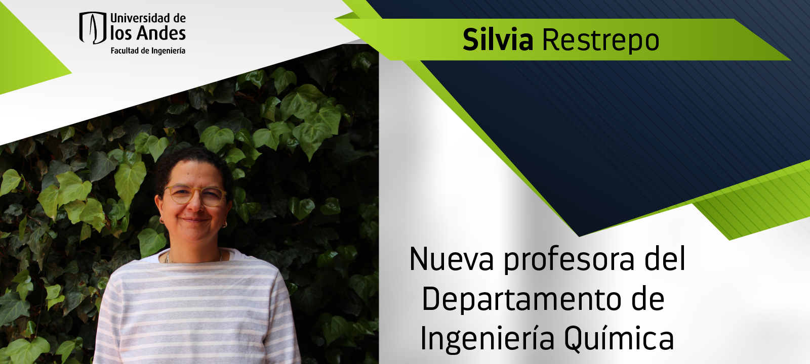 Profesora Silvia Restrepo, nueva profesora del Departamento de Ingeniería Química   Uniandes